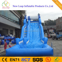 cheap slide 10.5*3.5*5m dolphin park inflatable water slide for sale