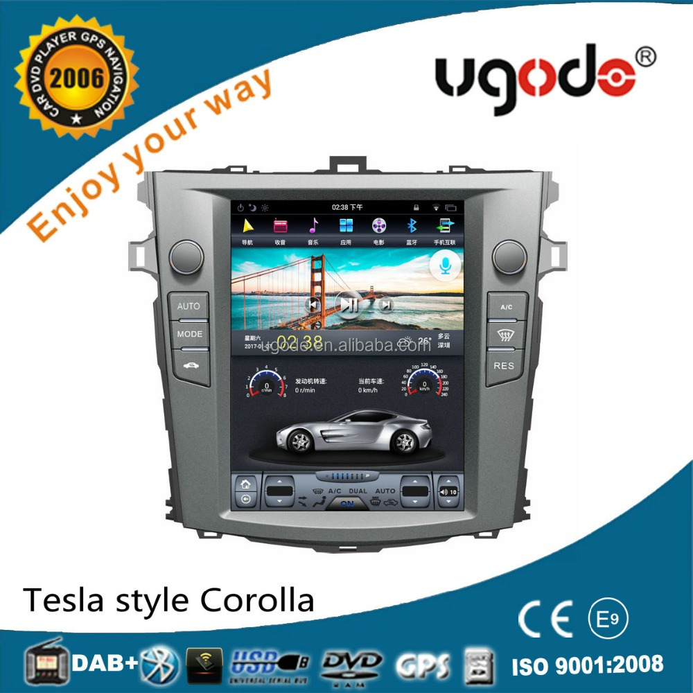 ugode unique tesla 10.4 inch Vertical Screen android car stereo for old corolla