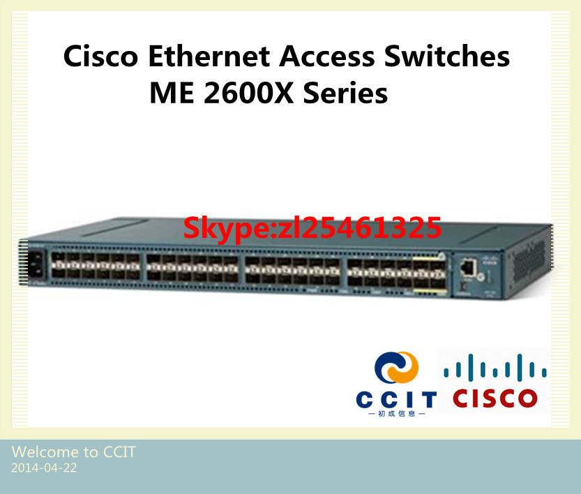 OSPF Switch ME2600X-44FA-A-K9 Orginal Cisco Ethernet Access Switch ME 2600X Series