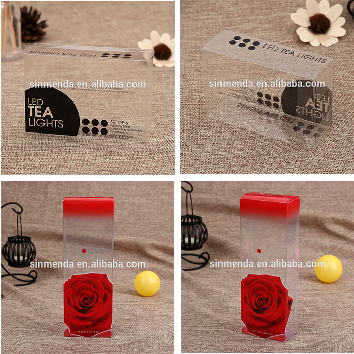 Custom PVC PET folding clear box packaging for fishing lure