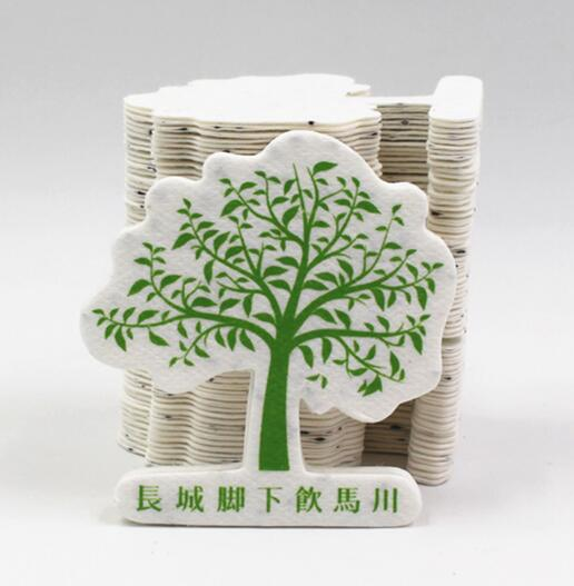Wholesale Logo Customized Cheap Creative Plantable Card ,Seed Bookmark, Plantable Seed Paper