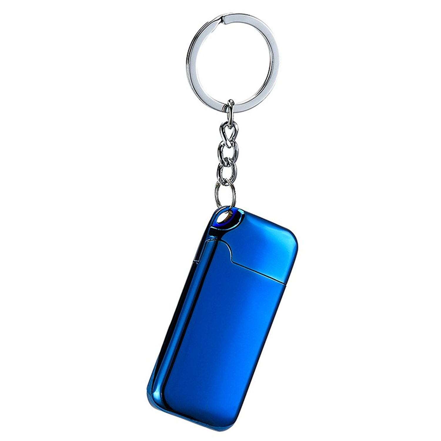 Novelty Keychain with Lighter,Moonwbak Heating Wire Cigar Lighter USB Rechargeable Electronic Tungsten Wire Cigarette Lighter with Keychain Pendant Flameless Wind-proof