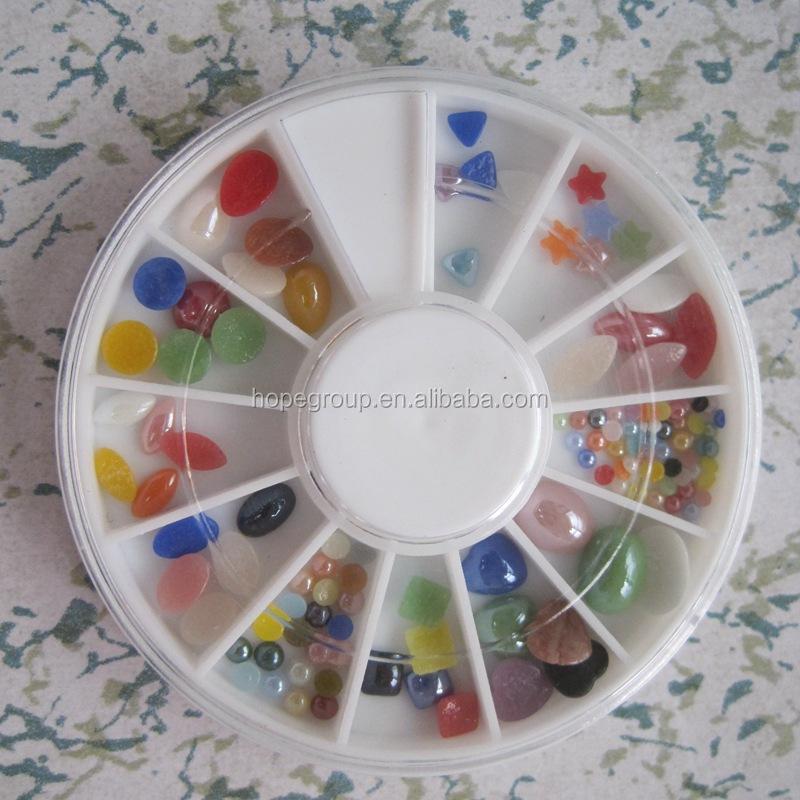 Color Stone Nai Art Nail Decor Wheel