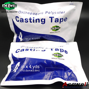 Acewell Medical High Quality Polyester Fiberglass Orthopedic Casting Tape