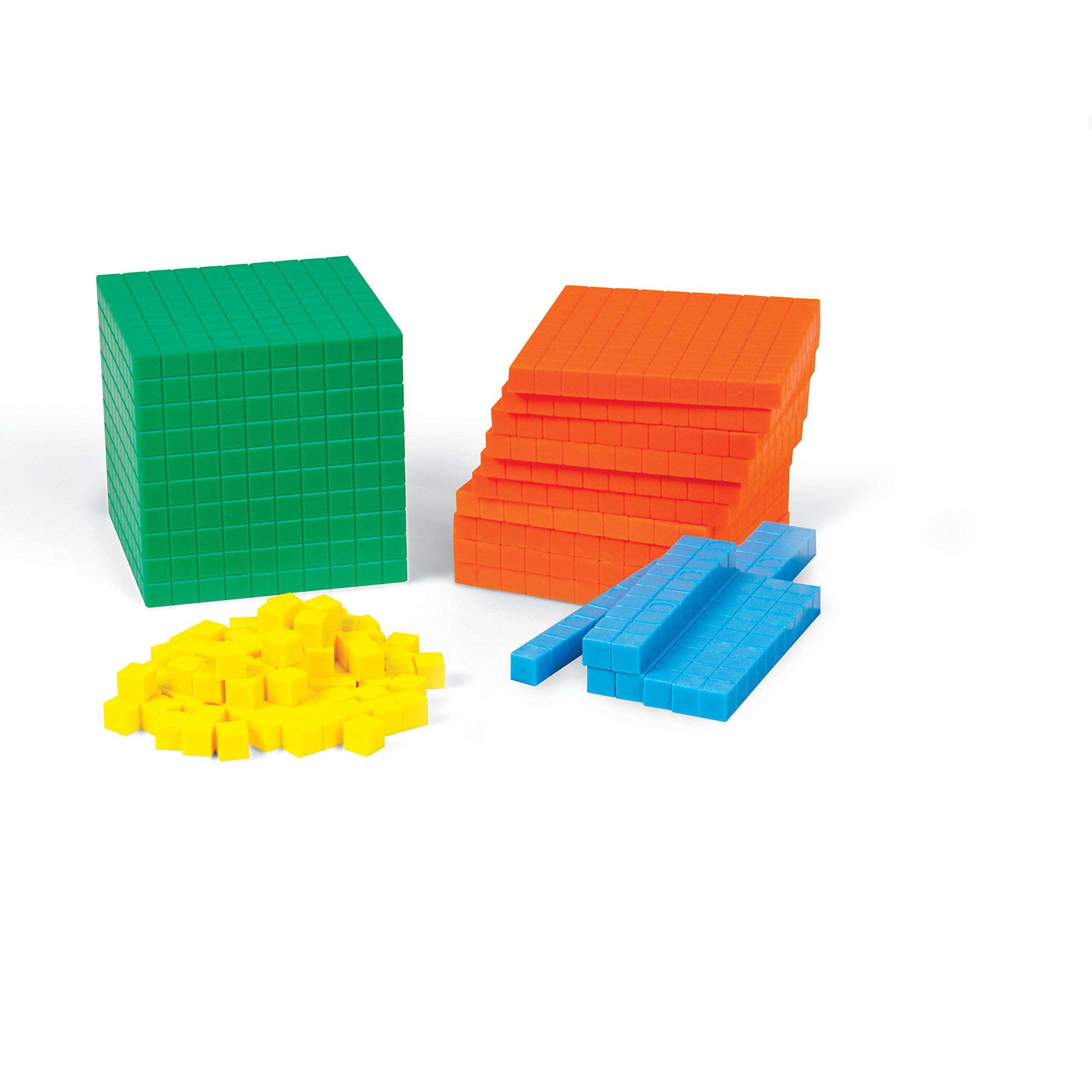 ETA hand2mind Plastic Differentiated Base Ten Blocks Set