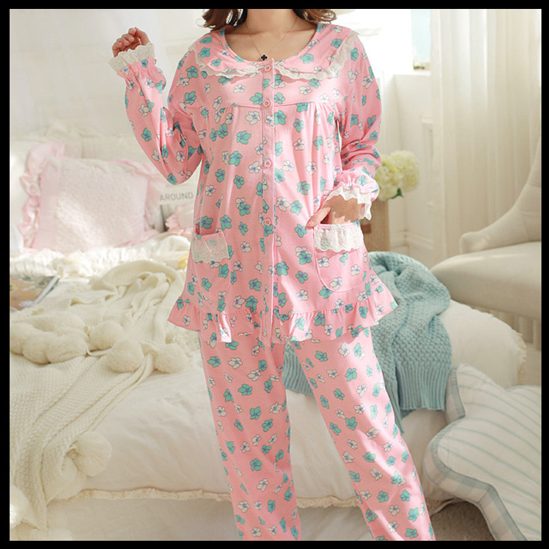 Maternity Dress confinement clothing cotton small Suihua clothing comfort nursing coat Home Furnishing pajamas