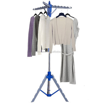 Multifunctional Retractable Portable Laundry Tripod Rack Clothes Hanger Drying Dryer