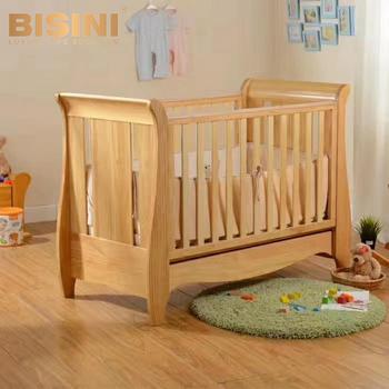Baby Bed Wieg.Bisini Amerikaanse Styled Nieuwe Geboren Baby Bed Massief Houten Volwassen Wieg Eenvoudig Ontwerp Bed Model Babybedje Bf07 70209 Buy Pasgeboren Baby