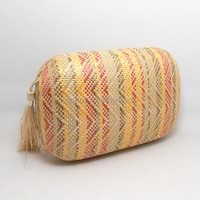 China hotsale lady straw clutches with magnet closure