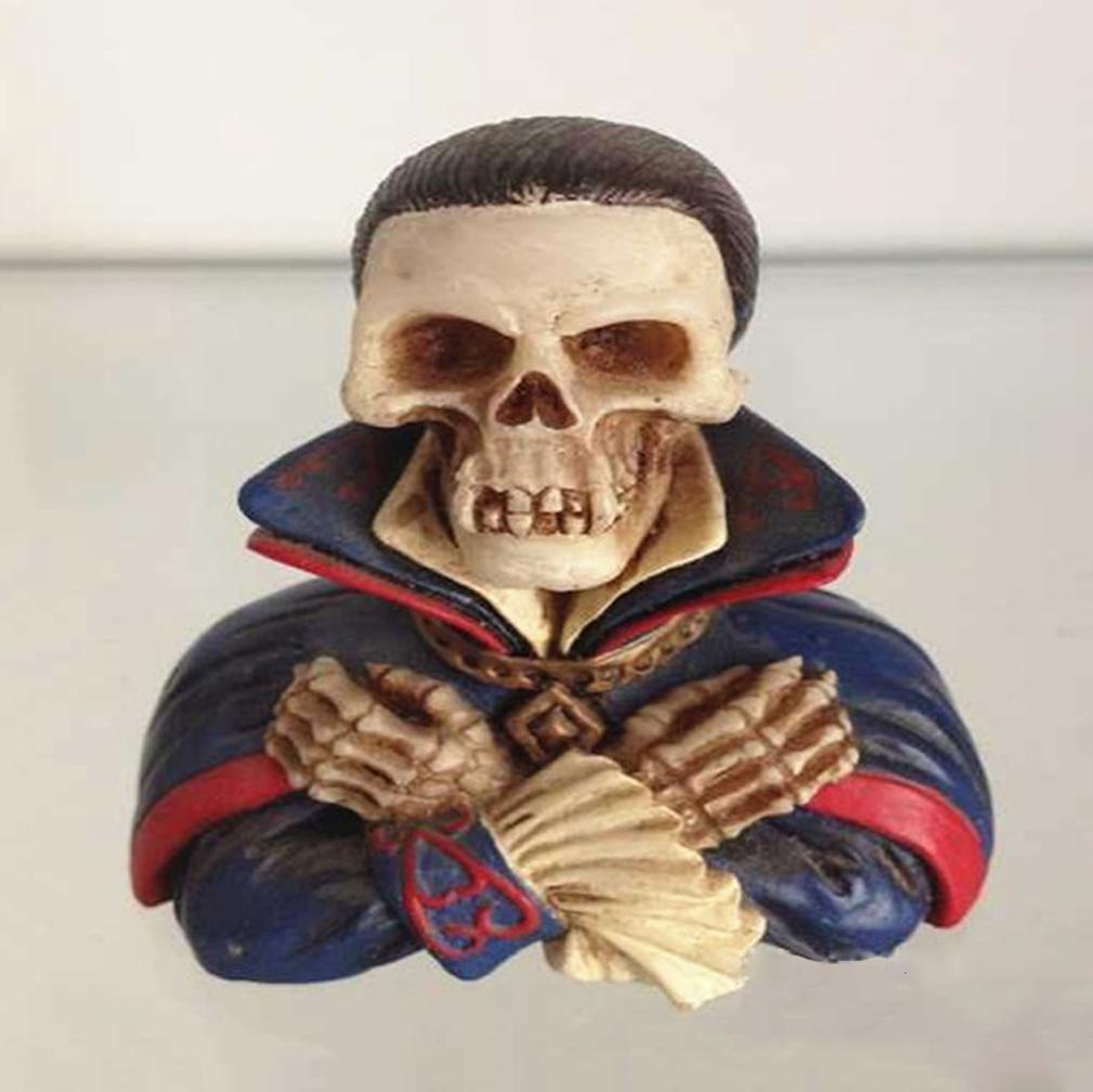 W&P Western mummified skull ornaments resin ornament Halloween Props art
