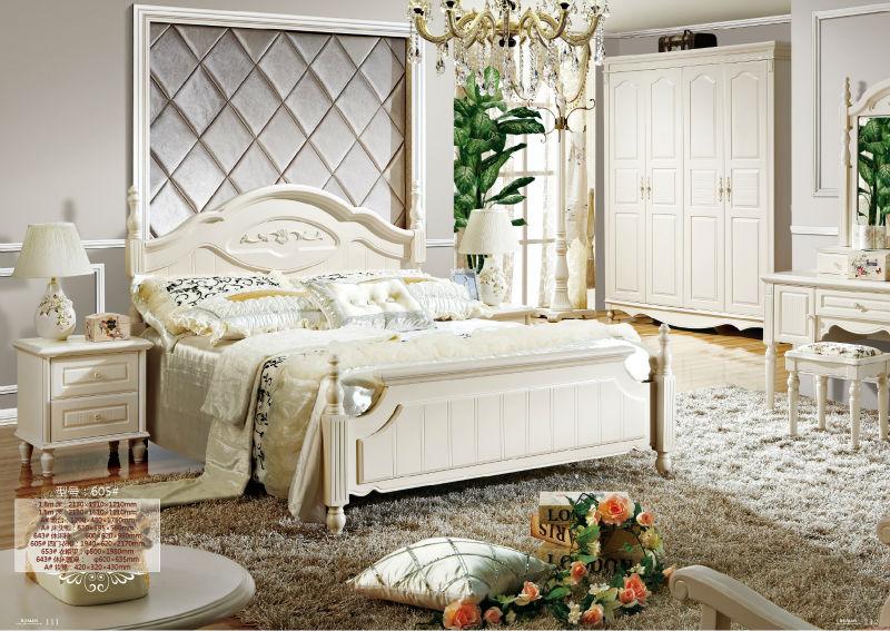 605 # De Lujo Real Neoclásico Muebles De Dormitorio De Madera Sólida ...