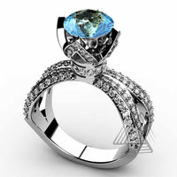 Garnet And Diamond Unique Engagement Rings
