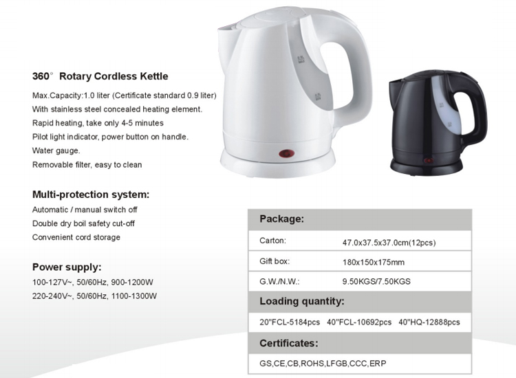 Automatic Switch Off Electric Kettle