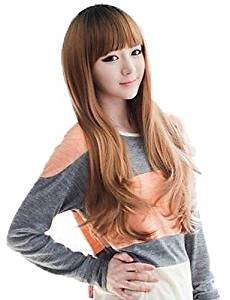Wigs have an attractive convenience fashion Lady Fashion Synthetic Long Curly Wigs Full Bang Wigs 3 Colors Available