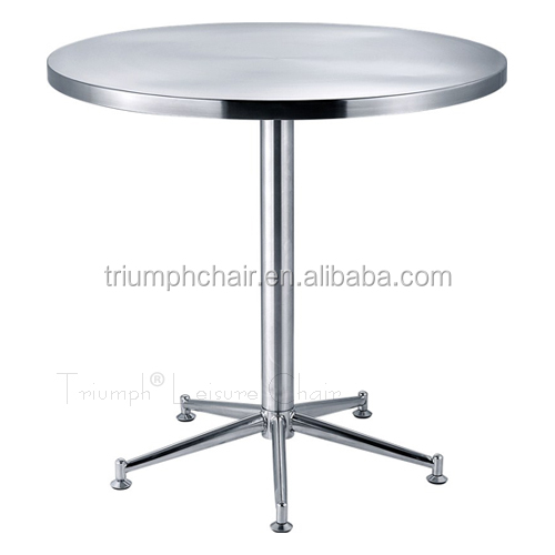 Triumph Aluminum Round Stainless Steel Dining Table /Stainless Steel round table