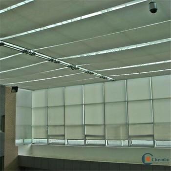 Tubular motor motorized roof sun folding skylight screen shade glass house blinds buy - The tubular glass house ...
