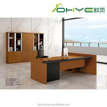 Liansheng 2018 European Style Luxury Wooden Office Furniture Executive Desk