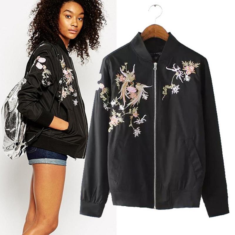Floral bomber jacket women