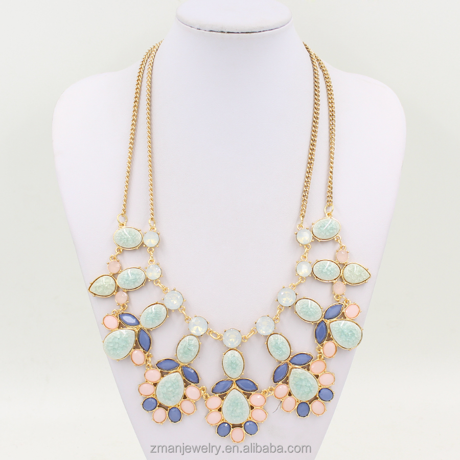 Statement Necklace Women Rhinestone Necklace & Pendants Summer Style Jewelry