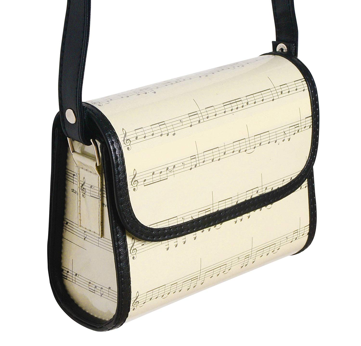 Get Quotations · Small crossbody made from music sheets - FREE SHIPPING,  upcycled style eco friendly vegan recycled
