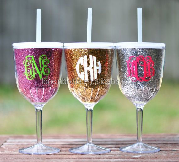 Insulated wine shot glass acrylic wine glass sippy cup for Acrylic paint on wine glasses