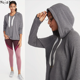Pullover Swing Hoodie for Women Relaxed Hi-lo Hem Women's Hoody for Winter