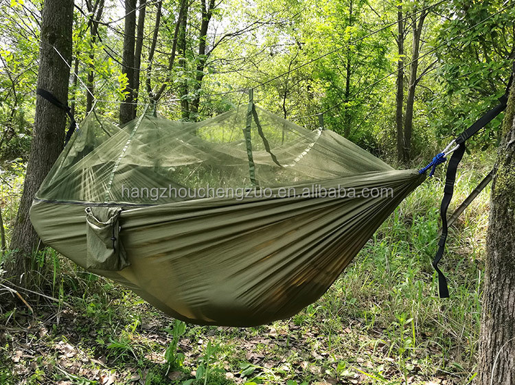 8961292648b Hot Sale Parachute Fabric 2 Person Outdoor Air Tent With Anti Mosquito Net