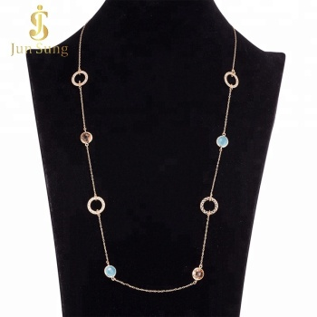 Wholesale Alibaba Gold Plated Women Long Chain Necklace Costume Jewellery
