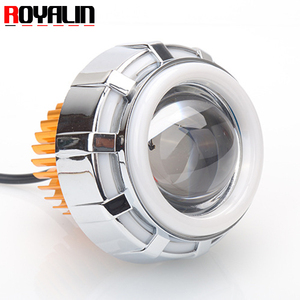 2.0 inch Mini Projector Lens With LED Angel Eyes Halo Rings Devil Eyes For Motorcycle Head light