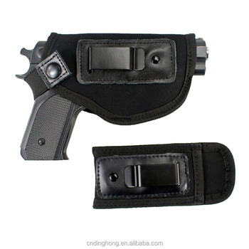 Tactical Universal Neoprene IWB Concealed Carry Gun Pistol Holster fits Glock with Extra Mag Holster for Right Hand
