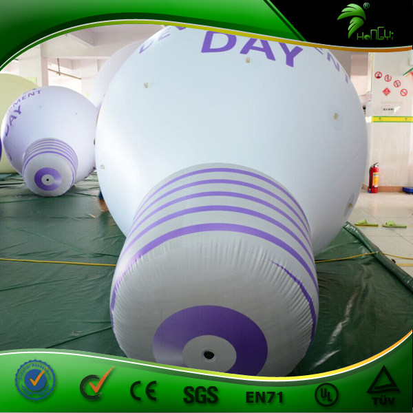 Indoor Hanging Style Giant Inflatable Light Bulb Pvc