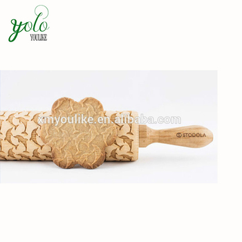 Christmas Designed Decorative Animal Dolphin Pattern Bamboo Rolling Pin Buy Decorative Rolling Pins Noodle Rolling Pin Custom Rolling Pins Product