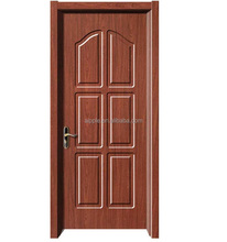 PVC Door 8mm MDF material with wooden Frame and Hardware Good Price