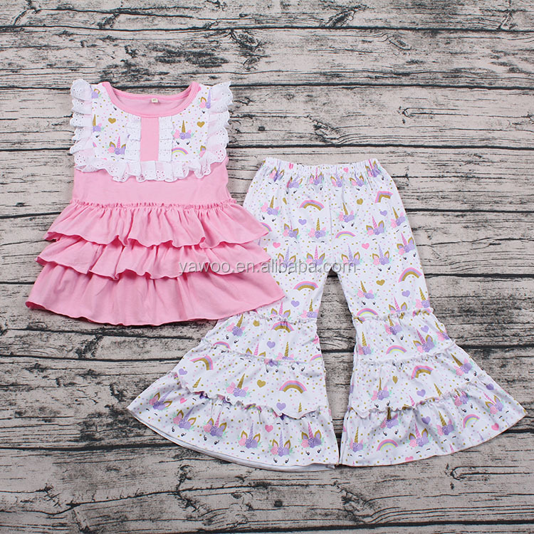 7ab10a3b4c029 High quality girls boutique outfits baby girl unicorn print clothes toddler  baby clothes 1 set, View baby girl clothes, Yawoo Product Details from ...