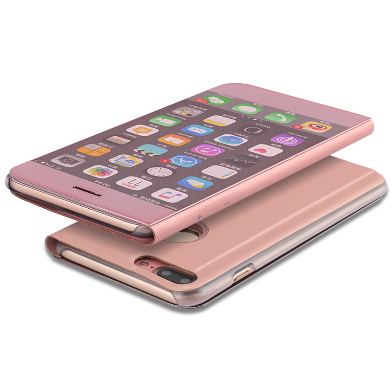 2017 New Arrival Slim Mirror Case Cover/Vertical Flip For iPhone 7 plus Case