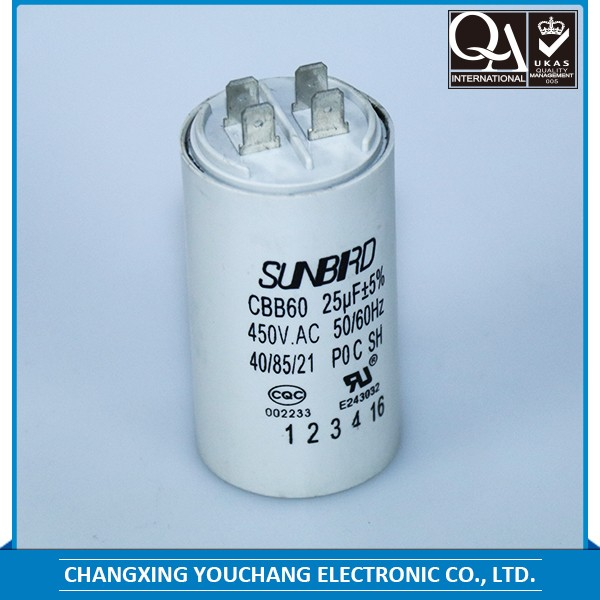 2017 air condition capacitor CBB60 capacitor with PVC cover