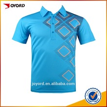 custom golf polo t shirt wholesale mens sublimated 100% polyester polo shirt