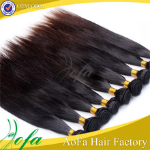 Natural color soft smooth raw unprocessed 100% malaysian straight virgin hair