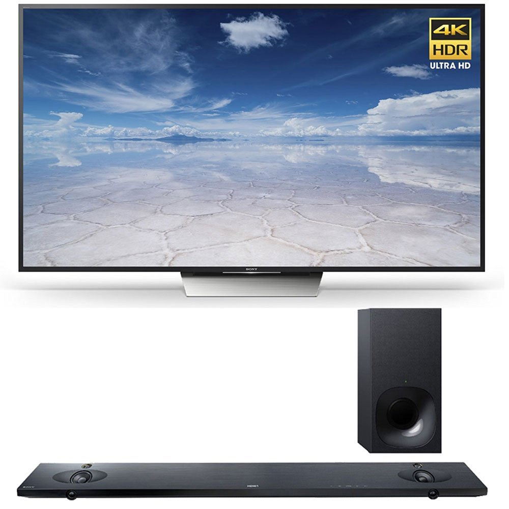 Sony XBR-85X850D 85-Inch 4K UHD TV with HTNT5 Sound Bar and Vudu/Rhapsody Streaming Essentials Bundle