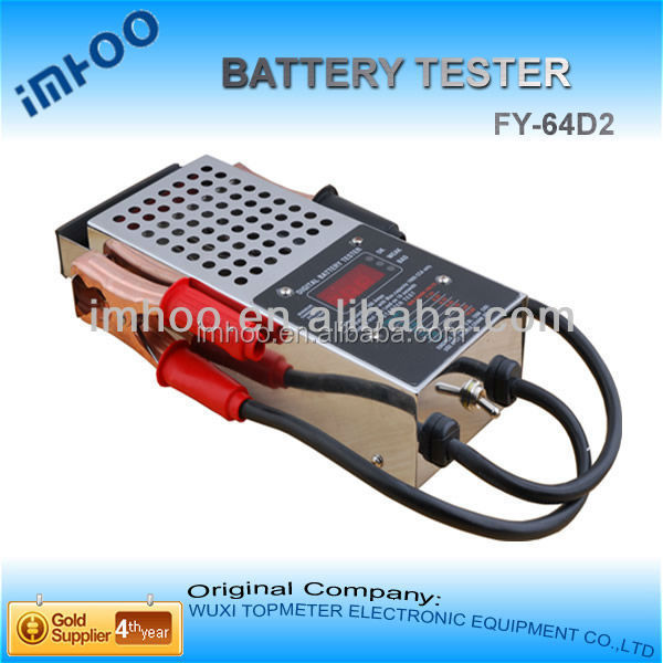 digital Car Battery Tester FY-64D2 charging battery with alternator
