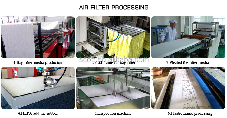 Activated carbon fiber nonwoven fabric air filter media