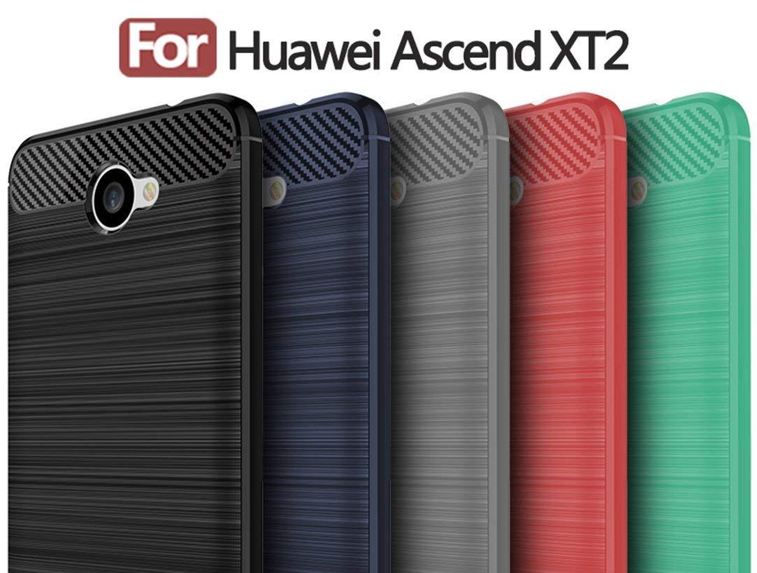 Custom Printed Logo On Carbon Fiber Tpu Case For Huawei Ascend Xt2 Brushed  Tpu Shockproof Case - Buy For Huawei Case,Tpu Shockproof Case,Carbon Fiber