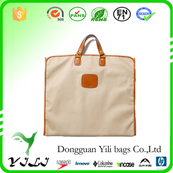 Nylongbag Nylon Garment Bag With Leather Handle Suit Carrier