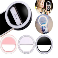 Wholesale portable rechargeable usb camera flash phone led selfie ring light