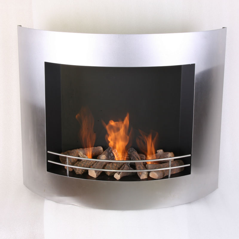 on sale china outdoor fireplace with wall hanging bio ethanol fuel