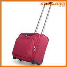 2015 Newest Classic Polyester Trolley Suitcase Stock Wholesale