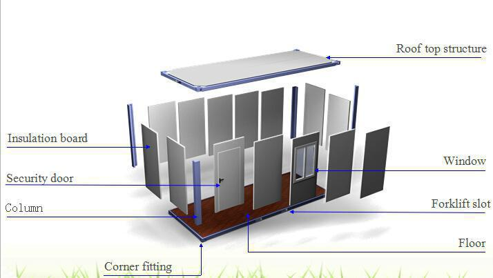 Living Unit Flat Pack Modular House Flat Pack Container