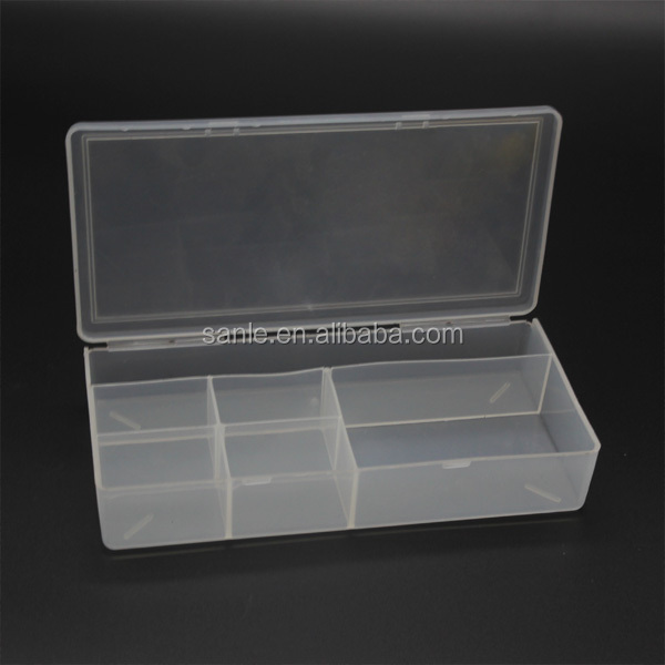 small clear hard hinged boxes with compartment cardboard
