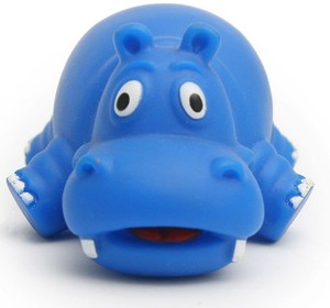 Cute Hippo Soft Rubber Float Baby Wash Bath Squirt Toys For Kids