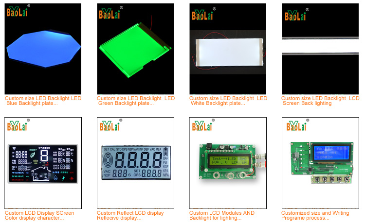 Customized 3.3V 4.5V 5V Small LCM Transparent LCD Module